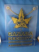 CANADA SECURITY ASSURANCE COMPANY PLASTIC ADVERTISING SIGN MAN CAVE BAR