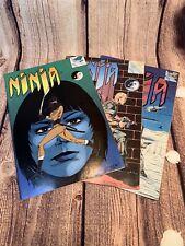 Ninja Comic Book #1, #2 & #3 Eternity Comics 1986