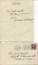NORMAN ROCKWELL AUTOGRAPHED LETTER FROM 1935+COA      ORIGINAL ENVELOPE     RARE