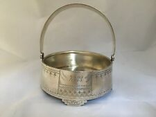 ANTIQUE RUSSIAN SILVER SUGAR BOWL with HANDLE MOSCOW 1882 NEO RUSSIAN style