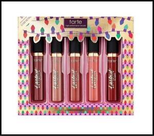 Tarte Party Pouts Lip Kit 5pc Liquid Matte Lipstick Holiday Gift Set