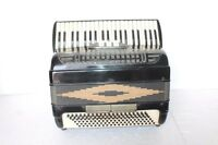 Accordion 120 Bass Black Fisarmonica Akkordeon + Case Vintage Collectible BB-35