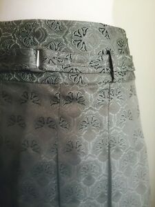 Grey-green Pleated Brocade Skirt. Size 8 - 10 Colorado