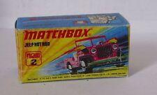 Repro Box Matchbox Superfast Nr. 2 Jeep Hot Rod
