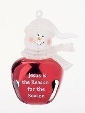 JINGLE BUDDIES Christmas Ornament Bell, Jesus Is The Reason, by Roman 21924