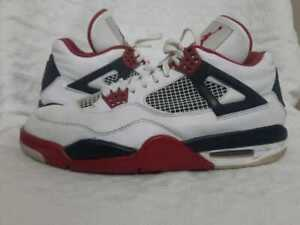 Nike Air Jordan Retro 4 Fire Red 2012 308497-110 Men's Sneaker Shoes Size 11.5