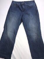 NYDJ Women's Jeans Size 4 Capri Alina Legging Med Blue Denim