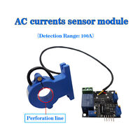 (US) Current Sensor Module AC Detection Sensor 100A Overcurrent Protection