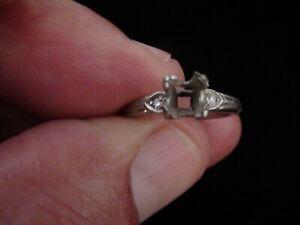Vintage Platinum 950 Prong Setting Diamond Engagement Ring