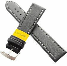 Watch Strap Band in Black 22mm Morellato Tipo Locman Lorica Leather