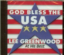 LEE GREENWOOD - GOD BLESS THE USA - AT HIS BEST - CD - NEW - SEALED