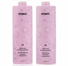 Amika 3D Volume and Thickening Shampoo & Conditioner 1 liter 33.8 oz Plumps