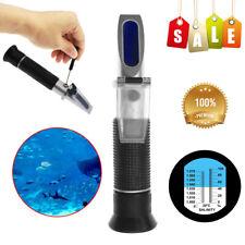 New 0-10% Fish Tank Aquarium Salinity Refractometer Salt Water Tester Hydrometer