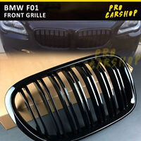 2009-15 For BMW 7-Series F01 F02 730d 740i 750i M Look Shiny Black Front Grille