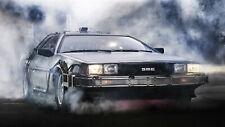 """1985 DeLorean DMC-12 'Back to the Future Auto Car Art Silk Wall Poster 24x36"""""""