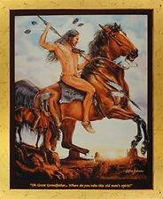 End of the Trail Native American Indian Wall Decor Art Framed Picture (18x22)