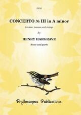 Concerto No. III in A minor for oboe and bassoon with chamber ensemble Henry Har
