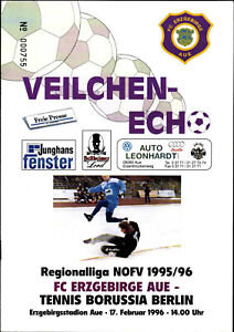 RL 1995/96 FC Erzgebirge Aue - Tennis Borussia Berlin, 24.04.1996 Nachholspiel