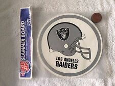 "NFL1994 Los Angeles RAIDERS Slammer, Board & Foil Milk Caps-Pogs 11"" Round  NEW!"