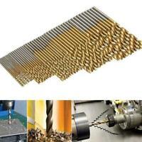10Pc 1.5mm-10mm HSS High Speed Steel Titanium Twist Drill Bit FAST Set Tool I1R2