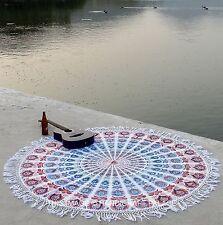 "Mandala 72 ""Redondo Alfombra De Yoga Tapiz Hippie Playa Toalla Bohemia Redonda"