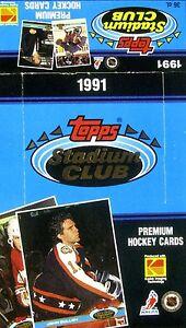 1991 Topps Stadium Club Hockey - Empty Display Box (John Cullen on the Box)