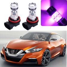 2x 100W 14000K Purple LED Headlight Bulb Kit Fog Light For Nissan Maxima 2007-18