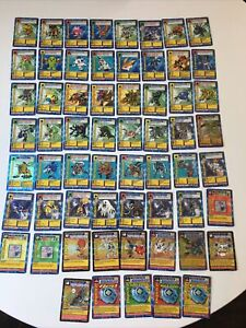 NEAR COMPLETE 1999 Bandai 1st Edition Digimon Card Set ST-01 - ST-62(61 Cards)