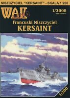 "GENUINE PAPER-CARD MODEL KIT - ""KERSAINT"" French Destroyer"