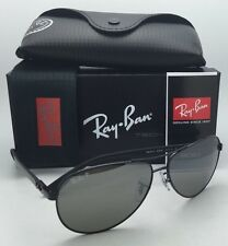 RAY-BAN POLARIZED Sunglasses TECH SERIES RB 8313 002/K7 Black Aviator w/ Mirror
