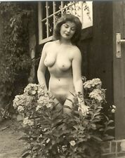 "223 # VINTAGE ""agfa lupex"" Photo ca 1960 PIN-UP GIRL NUDE NUDO NU atto nudo Nudist"