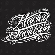 Harley Davidson Schriftzug / Version 1 - Fan Sticker, Biker, Chopper Aufkleber