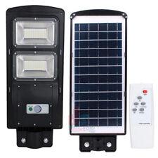 60W 50000LM LED Wall Street Light Solar Panel Motion Sensor Lamp W/ Remote Home