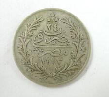 EGYPT ANTIQUE COIN SILVER 5 QIRSH 1886-1900
