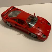 Ferrari F40 Tonka Polistil 1/18 Scale - 017004 Rosso Red Die-cast Made in Italy.