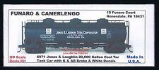 LMH Funaro F&C 6971 JONES LAUGHLIN STEEL Corp 20,000 Gal COAL TAR Tank Car White