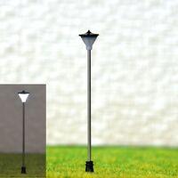 S094 - 10 Stück Straßenlampen mit LED für 12-19V variable Höhe von 4 bis 7cm