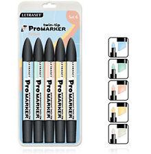 Letraset Promarker 5 Marker Pen Set - SET 6  -  Pastels