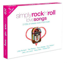 CLASSIC ROCK AND ROLL LOVE SONGS 2CD 40 VINTAGE ROCK, POP, SOUL 50's + 60's HITS