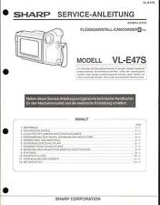 Sharp Original Service Manual per 8mm Camcorder VL-e 47s