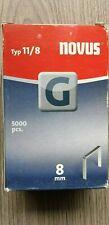 Novus versinkte flachdrahtklammern - Type G  11/8  5000 St. 042-0528