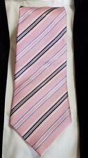 Tasso Elba Tie Pink Blue Gray Stripe Silk Classic