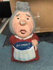 "Vintage Ceramic Piggy Bank - Grandma Old Woman ""Retirement?"" Retirement  D.T."