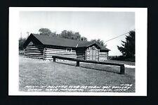 Anamosa Iowa IA c1940/50s RPPC Old  Grant Wood Log Cabin Style Art Gallery    )