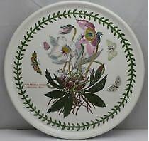 """Portmeirion Botanic Garden 10"""" pizza/cake plate (Christmas Rose)"""