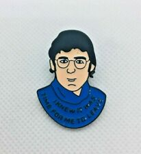 Louis Theroux Time to Leave TV Show Enamel Pin Badge