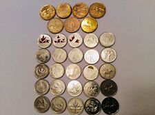 Canada $1 Loonie coin Set,7coins & Commemorative Quaters Set, 25coins