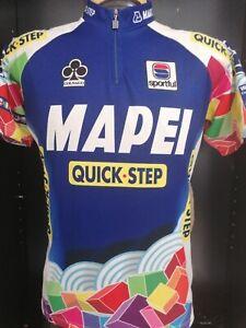 MAGLIA CICLISMO MAILLOT SHIRT CYCLISM SPORT TEAM MAPEI Sportful quick step tg L