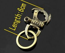 Mens Vintage style Fob Brass color key chain ring belt hook wallet chain clip