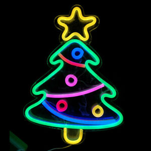 Creative Christmas Tree Rope LED Neon Light Outside Bedroom Wall Decoration  s
